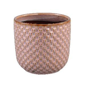 Inezz Ceramic pink pot square votive round M