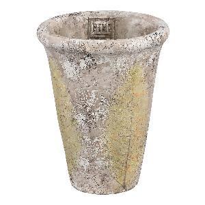 Jaine Cream cement pot leaf round S
