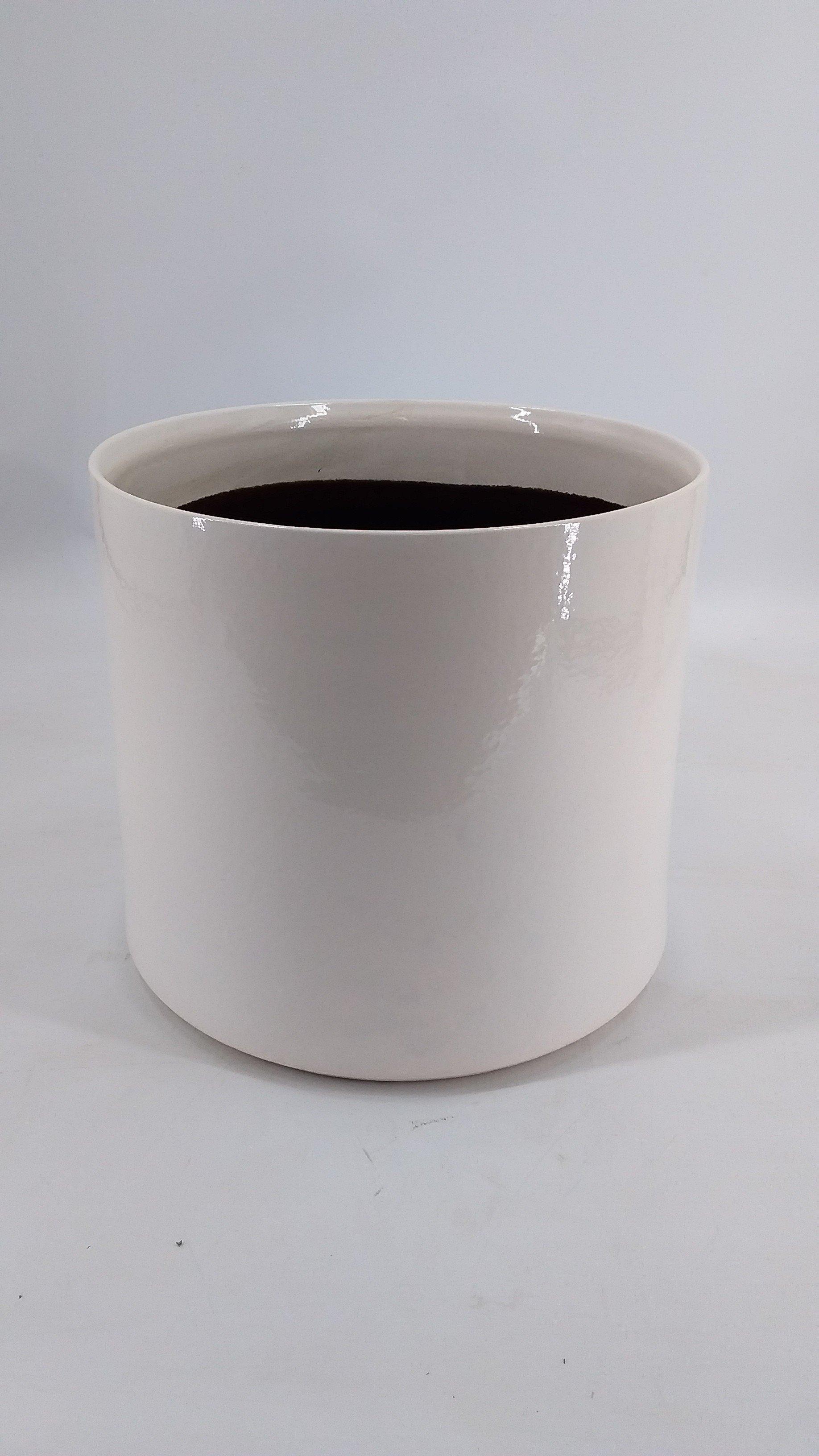 White stone pot L