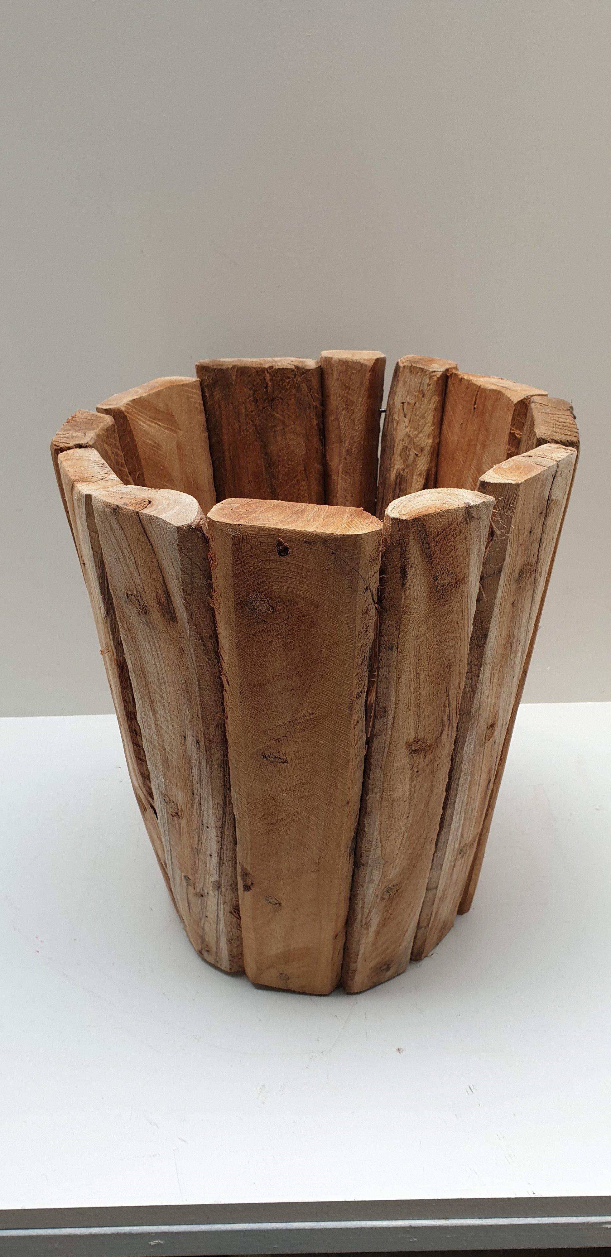 Recycled teak pot